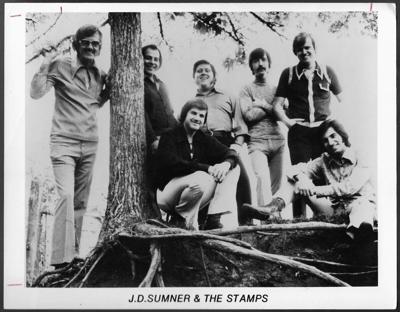 Elvis Backup Vocal Group JD Sumner The Stamps Original 1970s Promo Photo  - $14.95
