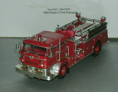 "1/50 Scale 1960 Mack C Pumper Diecast Fire Truck (6.5"") Signature Models 32372"
