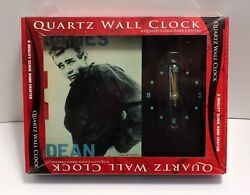 10 X 12 James Dean Collectible Battery Operated Quartz Wall Clock, NEW IN BOX!