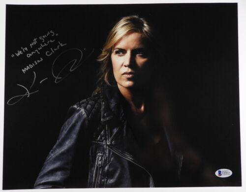 Fear The Walking Dead Madison Kim Dickens Autograph Signed Photo Beckett 11 x 14
