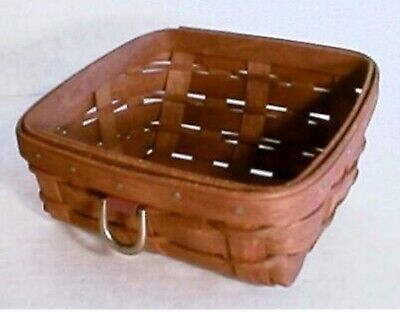 Longaberger Business Card Basket Sort & Store + PROT.  - Rich Brown NEW & Rare!!