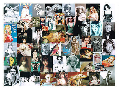 ORIGINAL ART - SEXY BEAUTIFUL WOMEN THEME - COLLAGE - LOREN MONROE TAYLOR PHOTO