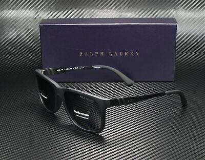 Ralph Lauren Polo PH4088 528481 MATTE BLACK POLAR GREY 55 mm Men's (Polo Ralph Lauren Sunglasses For Men)