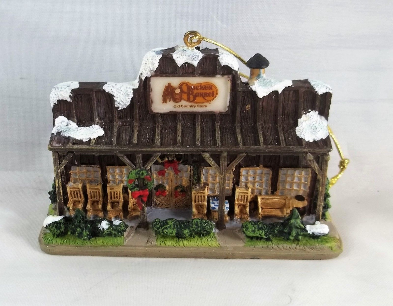 Cracker Barrel Old Country Store Resin Christmas Ornament Holiday  - $11.65