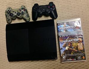 PlayStation PS3 12GB Superslim Console w/ Uncharted 2 & 3