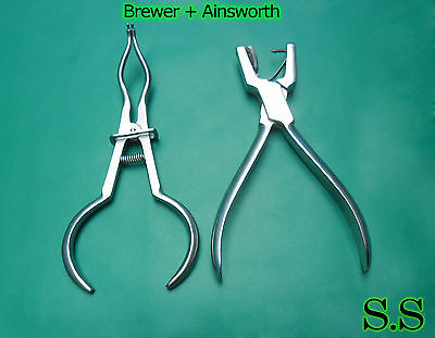 2 Dental Rubber Dam Instruments Ainsworth Brewer Punch