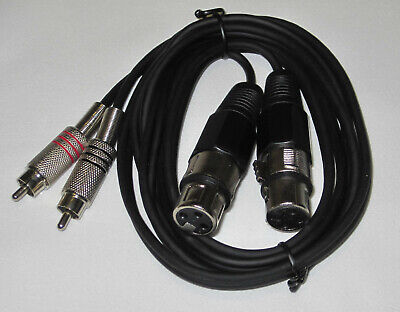 (4,53€/m) IBIZA Kabel Adapter CM1.5RXF-2 2x Cinch XLR Female Buchse 1,5m #5100 Xlr-female-buchse