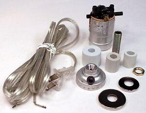 Bottle lamp kit ebay silver make a lamp wiring kit for wine oil bottle lamp conversion or repair m39 keyboard keysfo Choice Image