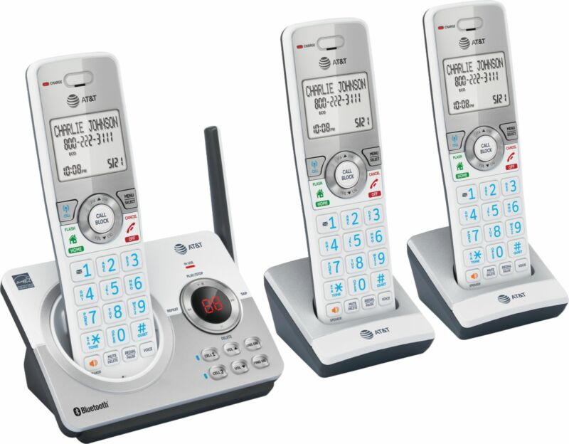 AT&T - 3 Handset Connect to Cell Answering System with Unsurpassed Range - White