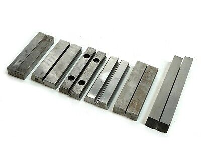 6 Pairs Of Machinist Steel Parallel Bar Set 5 5-12 6 8 Length