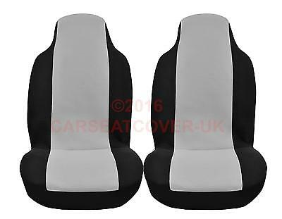 Saab 9-3X (2009-11) Luxury GREY and BLACK Car Seat Covers - 2 x Fronts