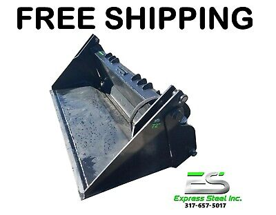 Es New 72 4-in-1 Bucket Skid Steer Quick Attach - Free Shipping