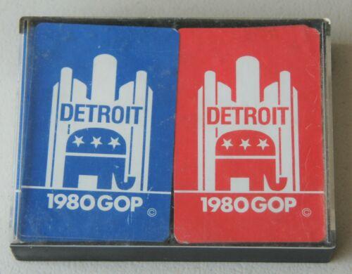 1980 GOP Republican Convention Detroit Paying Cards - 2 Decks