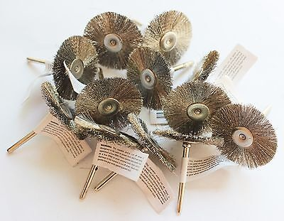 12pcs Wire Brush Wheel 1.5 Fits Rotary Tool For Cleaning Removal