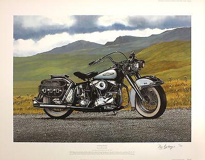 "RAY GOLDSBROUGH ""American Dream"" harley davidson SIGNED SIZE:54cm x 70cm NEW"