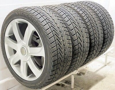 "Audi Style New Alloy Wheels 17"" 2255017 Used Winter Tyres A3 A4 A6 B8 5x112 , used for sale  Exeter"