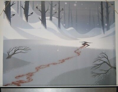 Samurai Jack Season 5 Print Daughter Of Aku In Snow Cartoon Network Adult Swim