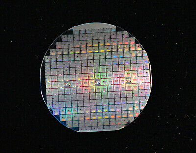 Vintage 4 Silicon Wafer With Microprocessors - From 1980s And Case Is Included