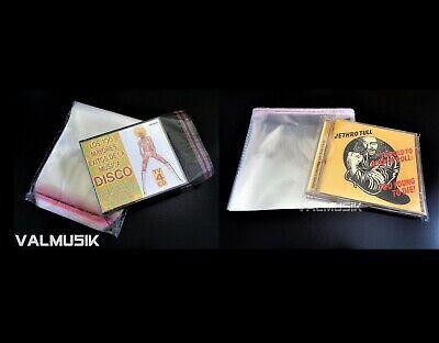 50 Fundas Exteriores Tipo Cristal Cierre Adhesivo Caja CD Jewel + 50...