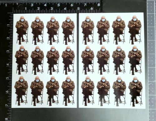 Bernie Sanders Meme Photo Sticker Sheet - 24 Stickers!!! Biden Inauguration 2021