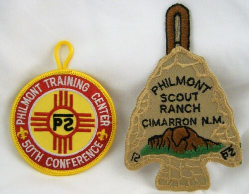 Philmont Scout Ranch Training Center 50th Conference Arrowhead Patch Lot of 2