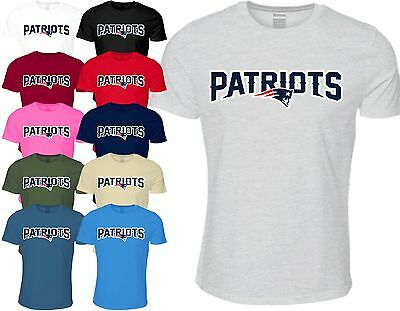 New England Patriots T Shirt NFL Super bowl 2017 American Football Pats Sports
