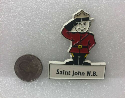 Saint John New Brunswick Mountie Rubber Magnet