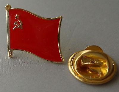 CCCP  SOVIET FLAG  SICKLE & HAMMER  PIN BADGE USSR / CCCP/ RUSSIAN