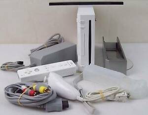 Nintendo Wii Console with Controller Nunchuck IR Bar Stand Wrist Blakeview Playford Area Preview
