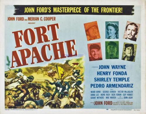 FORT APACHE JOHN WAYNE HENRY FONDA MOVIE POSTER ARTWORK PHOTO JOHN FORD CLASSIC
