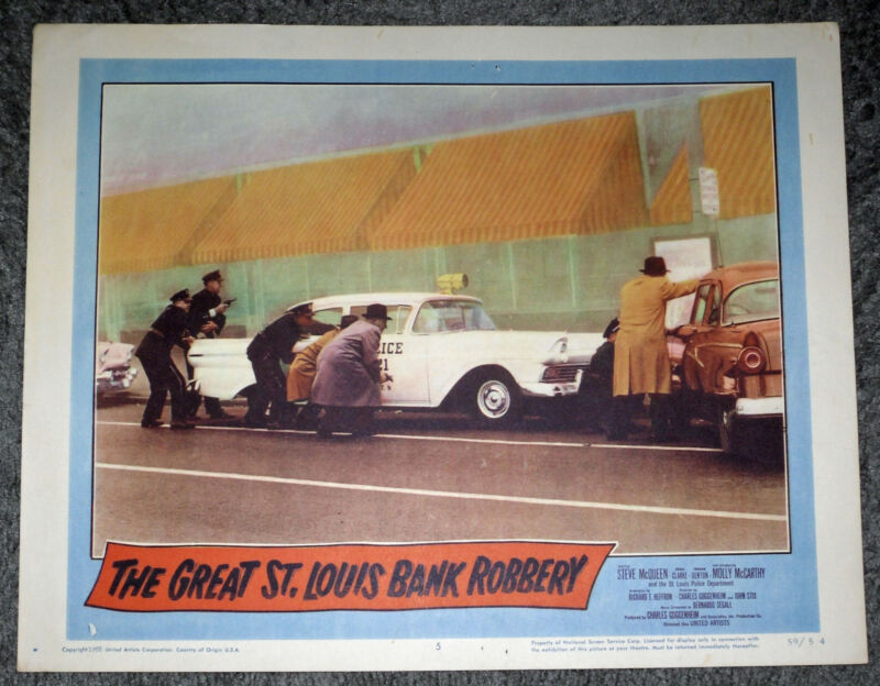 THE GREAT ST. LOUIS BANK ROBBERY original 1958 movie poster SOUTHWEST BANK