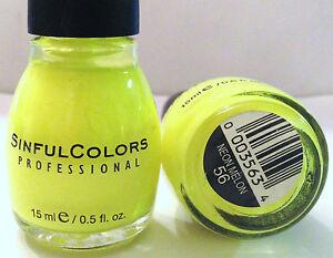 Sinful Colors Yellow Nail Polish