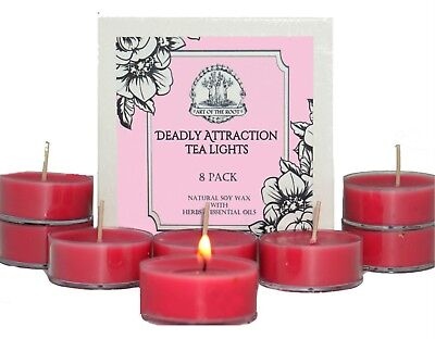 Deadly Attraction Tea Lights Soy Passion Seduction Love Lust Wiccan Pagan Hoodoo ()