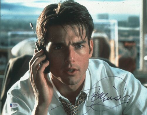 TOM CRUISE SIGNED 11X14 PHOTO 'JERRY MAGUIRE' AUTHENTIC AUTOGRAPH BECKETT BAS