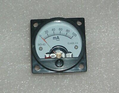 Analog Panel Meter Dc 0-100ma Ammeter So-45