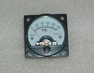 Analog Panel Meter Dc 0-100ma Ammeter So-45