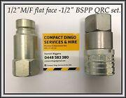 "1/2 Male/Female -1/2""BSPP  FLAT FACE QRC sets $129.00 + ASV / Toro / Carlisle Victoria Park Area Preview"