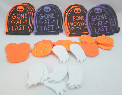 Halloween 36 Foam Stickers - Tombstones, Pumpkins & Ghosts - Halloween Foam Stickers