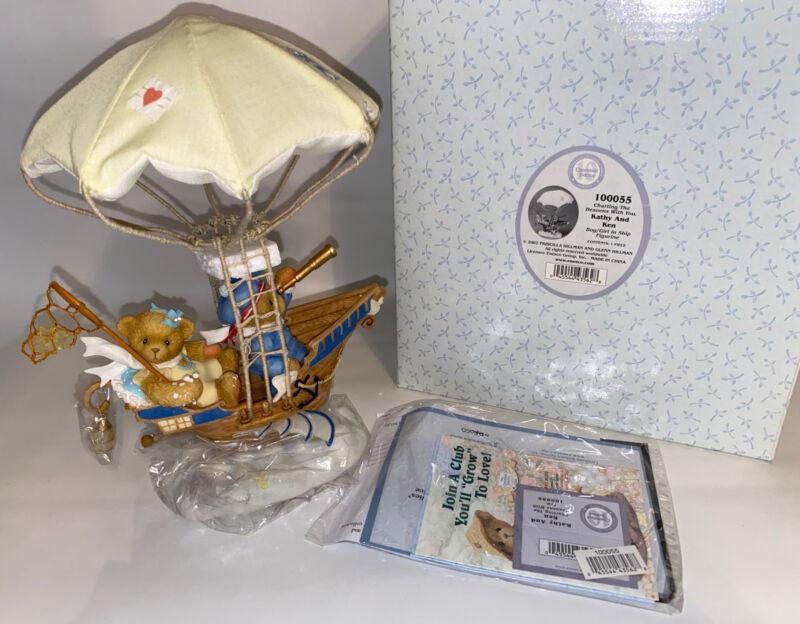 Cherished Teddies 100055 Kathy & Ken In Ship 10th Anniversary Figurine & Box NEW