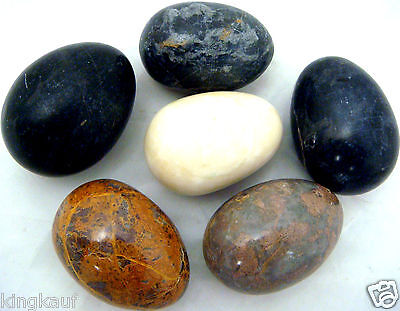 XL Marmoreier im 6er-Pack,Marmor Eier je ca.6x4cm,Osterei,Ostereier,Stein,Granit