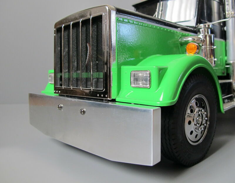 Custom Aluminum Front Bumper Tamiya 1/14 Semi King Knight Hauler Globeliner