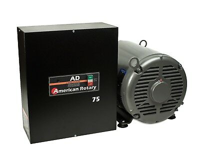 Heavy Duty Rotary Phase Converter Ad75 75 Hp Floor Unit Digital Controls Cnc