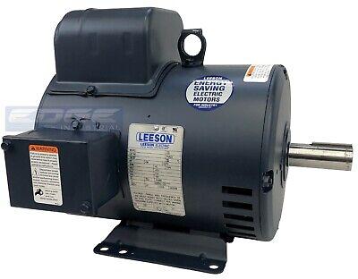 208v 1-phase Leeson Compressor Duty Electric Motor 5hp 184t Frame 1750 Rpm