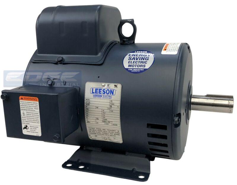 5 HP 1-PH 1725RPM LEESON ELECTRIC COMPRESSOR MOTOR 184T C184K17DB31A 230V 131537