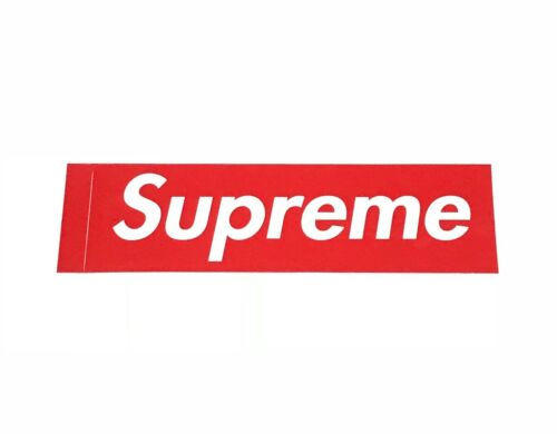 Supreme Red Box Logo Sticker 100% Authentic