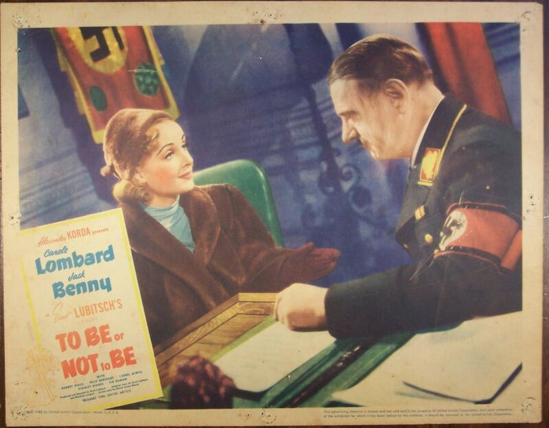TO BE OR NOT TO BE,Carole Lombard,Jack Benny,lc774