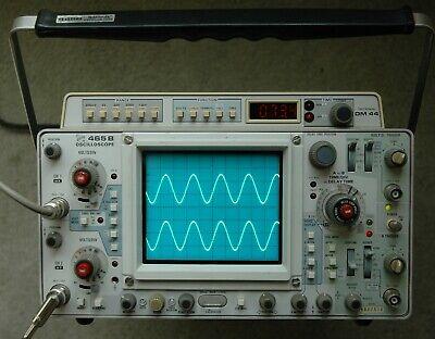 Tektronix 465b 100mhz Two Channel Oscilloscope Two Probe Power Cord Snb062516