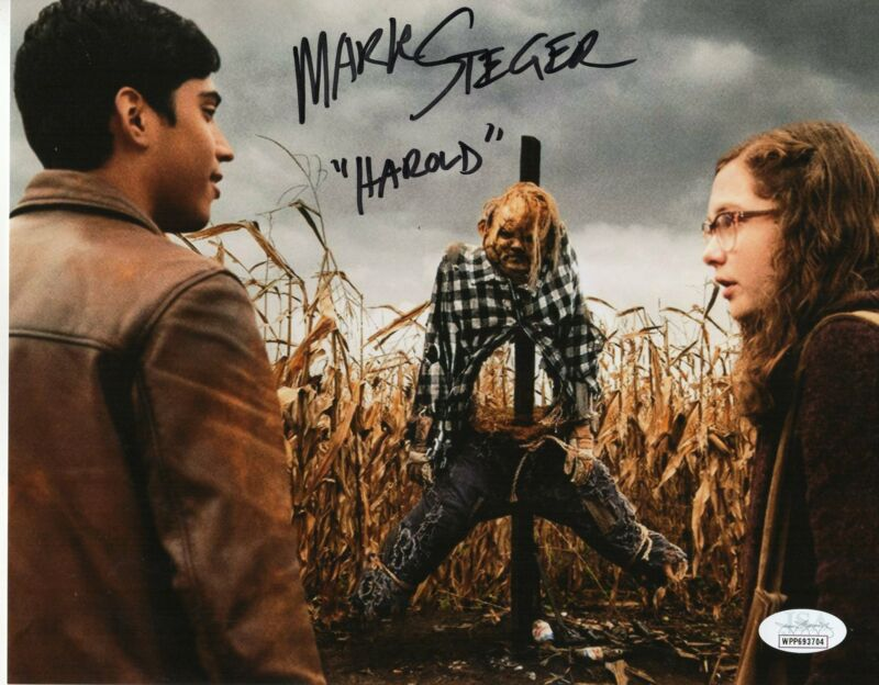 Mark Steger Autograph 8x10 Photo Scary Stories to tell in the Dark Harold JSA CO