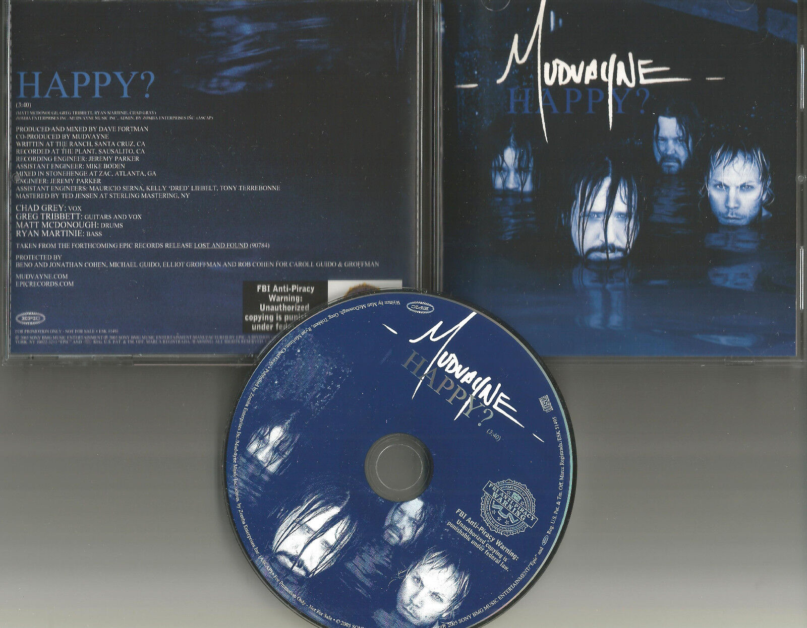 MUDVAYNE Happy PICTURE DISC PROMO Radio DJ CD Single 2005 USA ESK 51495