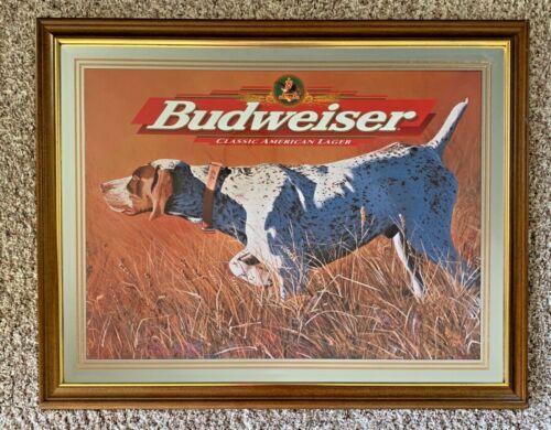 Budweiser Beer Mirror Hunting Dog Large!